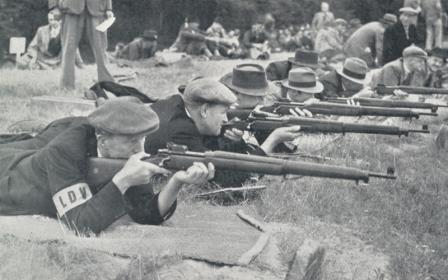 Home Guard (LDV) volunteers in rifle training