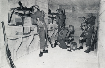 Home Guard soldiers in British Blockhouse