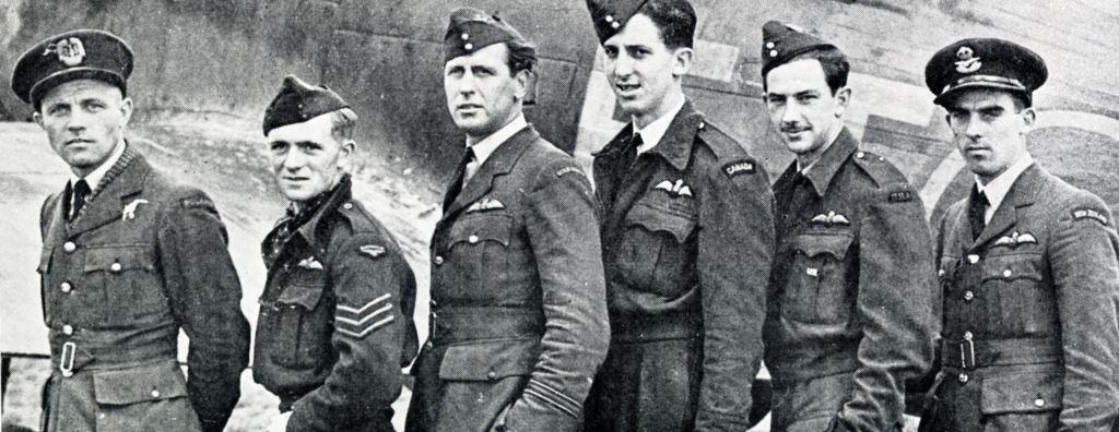 Left to right, pilots from Poland, Australia, Gold Coast, Canada, USA and New Zealand who took part in the Dieppe raids.
