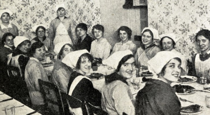 Mess party of the Women's Royal Naval Service who were at work at Greenwich Royal Naval College