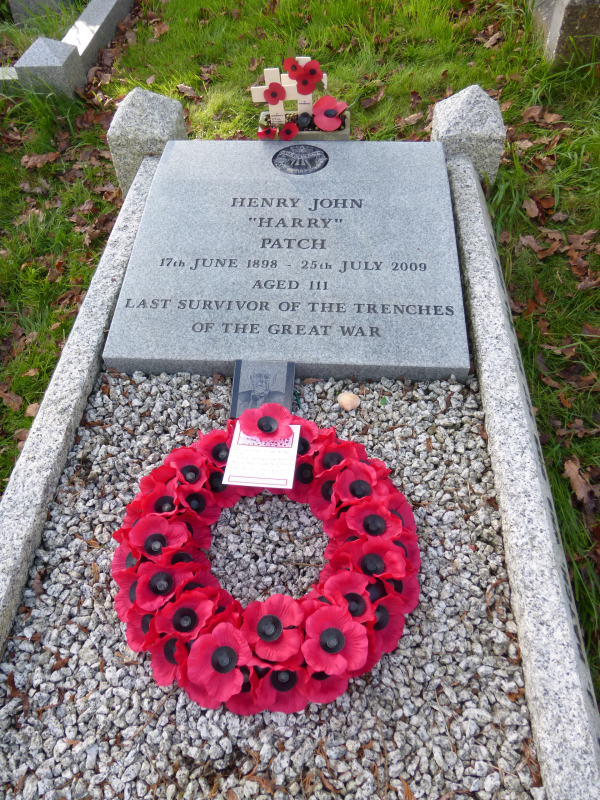 The Grave Of The Last Known Tommy Henry John Patch