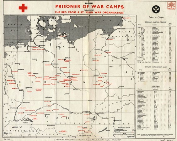 Prisoner of War Camps in Germany during WW2