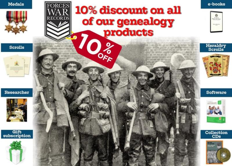 10% Discount on all of our genealogy products