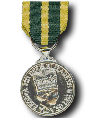 High quality official replica Queen's Volunteer Reserves Medal (QVRM) for sale