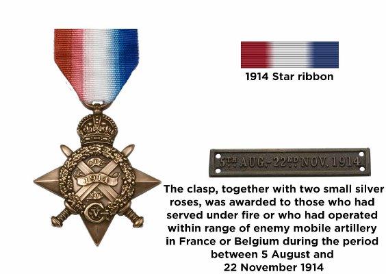 WW1 Mons Star Medal Ribbon