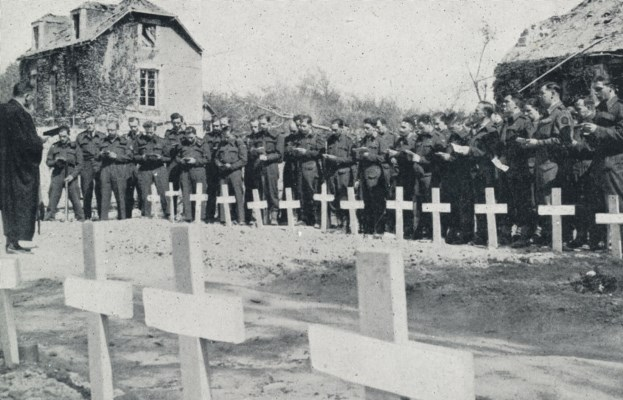 British army Padre conducts memorial service soldiers killed Normandy beachhead
