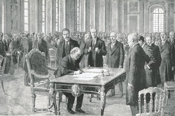 Signing the peace treaty Versailles June 28th 1919