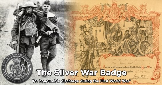 The Silver War Badge & Kings Certificate Of Discharge WW1