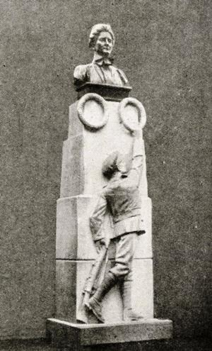 Statue of Edith Cavell at Norwich, unveiled by Queen Alexandra, October 12th, 1919