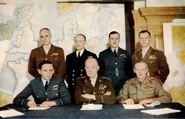 Supreme Commander General Dwight David Eisenhower, Allied Expeditionary Force, and his Staff.