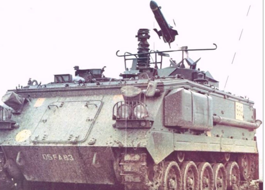 Swingfire AFV 438 – the missile could knock out a tank at 4Km