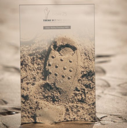 There But Not There - commemorative D-Day Bootprint