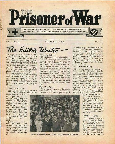 The Prisoner of War Journal by the Red Cross & St John War Organisation