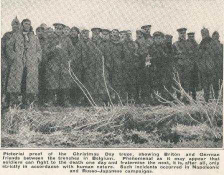 The Christmas Day truce between Britons and Germans