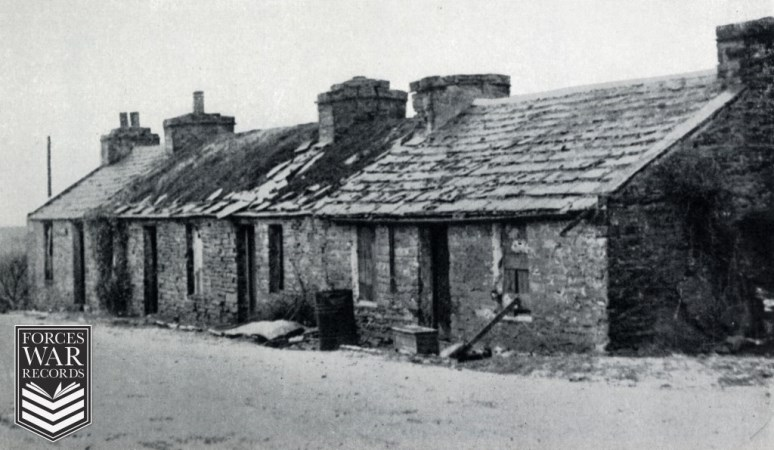 The cottage in Bridge of Waithe village where the first British civilian lost his life in an air-raid during an attack on Scapa Flow