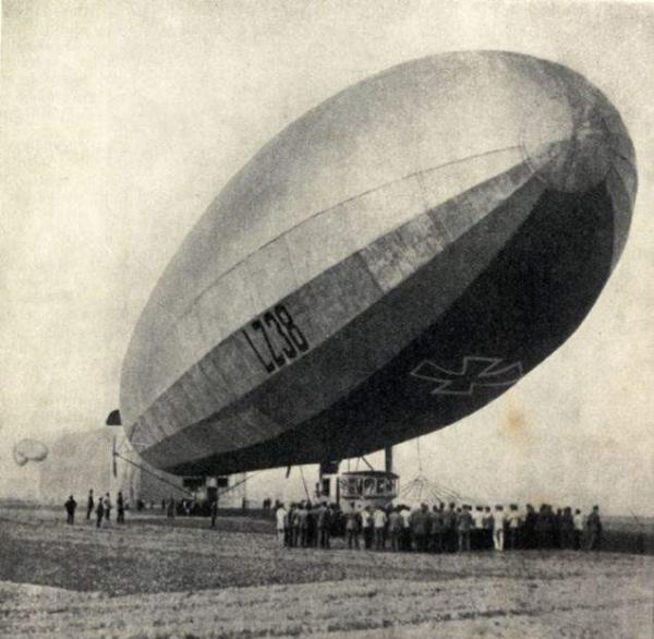 Images Of The First Air-Raid On Britan 1915