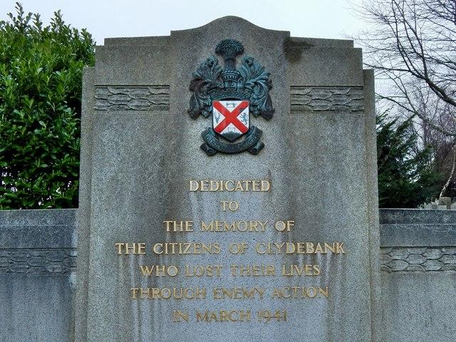 Clydebank Blitz Memorial