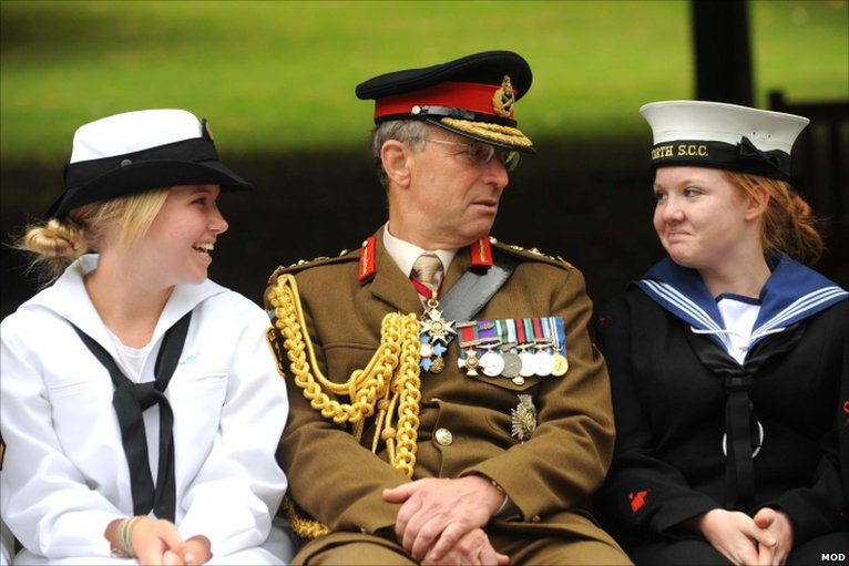 CGS, Gen Sir David Richards and Cadets in 2011