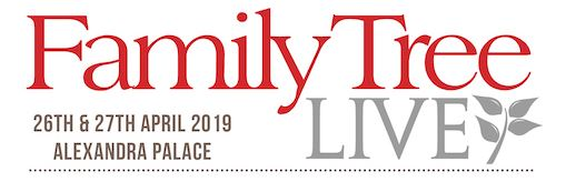 Family Tree Live – taking place on 26th & 27th April 2019, at London's Alexandra Palace