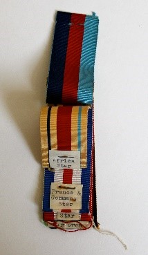 Figure 7 - Swatch showing 1939-45, Africa, France and Germany star ribbons