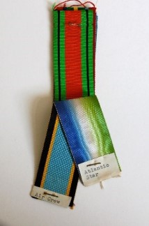 Figure 9 - Swatch showing Defence and Aircrew and Atlantic Star medal ribbons.