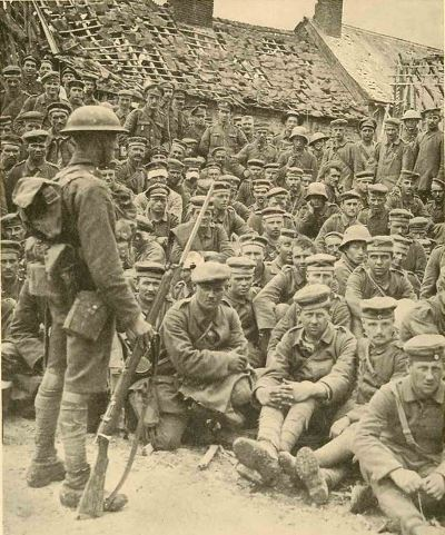 German prisoners at Méricourt-l'Abbé Aug 8th 1918