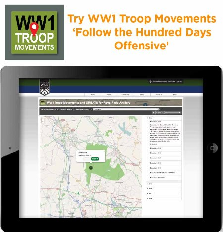 Try WWI Troop Movement and follow the Hundred Days Offensive