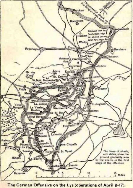 The German offensive on the Lys