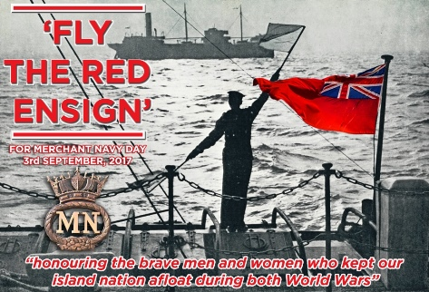 'Fly the Red Ensign' for Merchant Navy Day