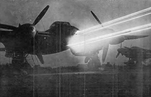 Mosquito Fires From Eight Guns