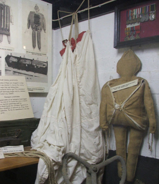 "Paratrooper dummy ""Rupert"" used during the D-day. From the Merville Bunker museum in France. Source: WIKI under commons licence"
