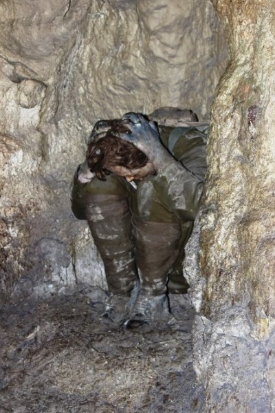 Image of a solider suffering from Shellshock in the Trenches.