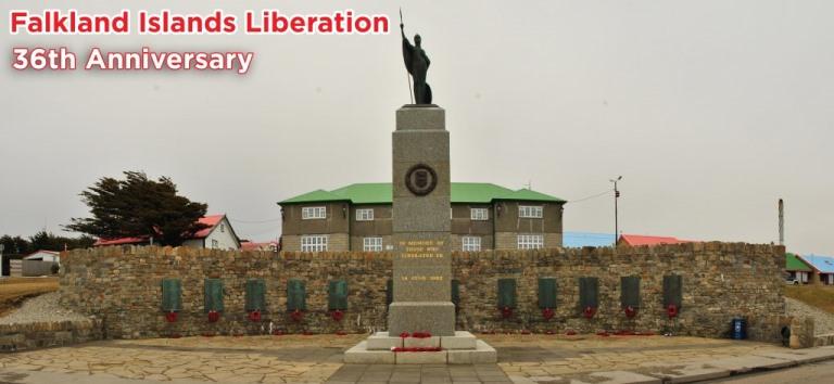 Flakland Island memorial