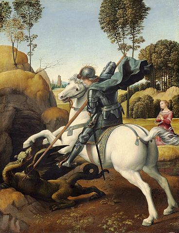 St George by Raphael via Wikipedia Commons