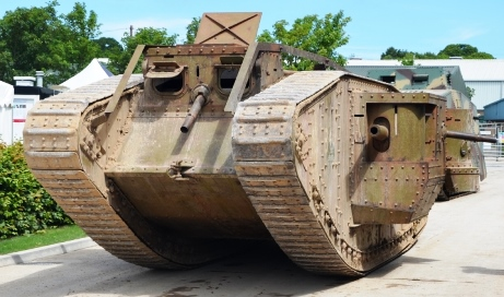 Replica WWI tank as used in the film 'War Horse'
