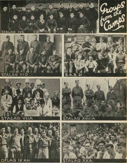 Images of P.O.Ws in Wartime Camps