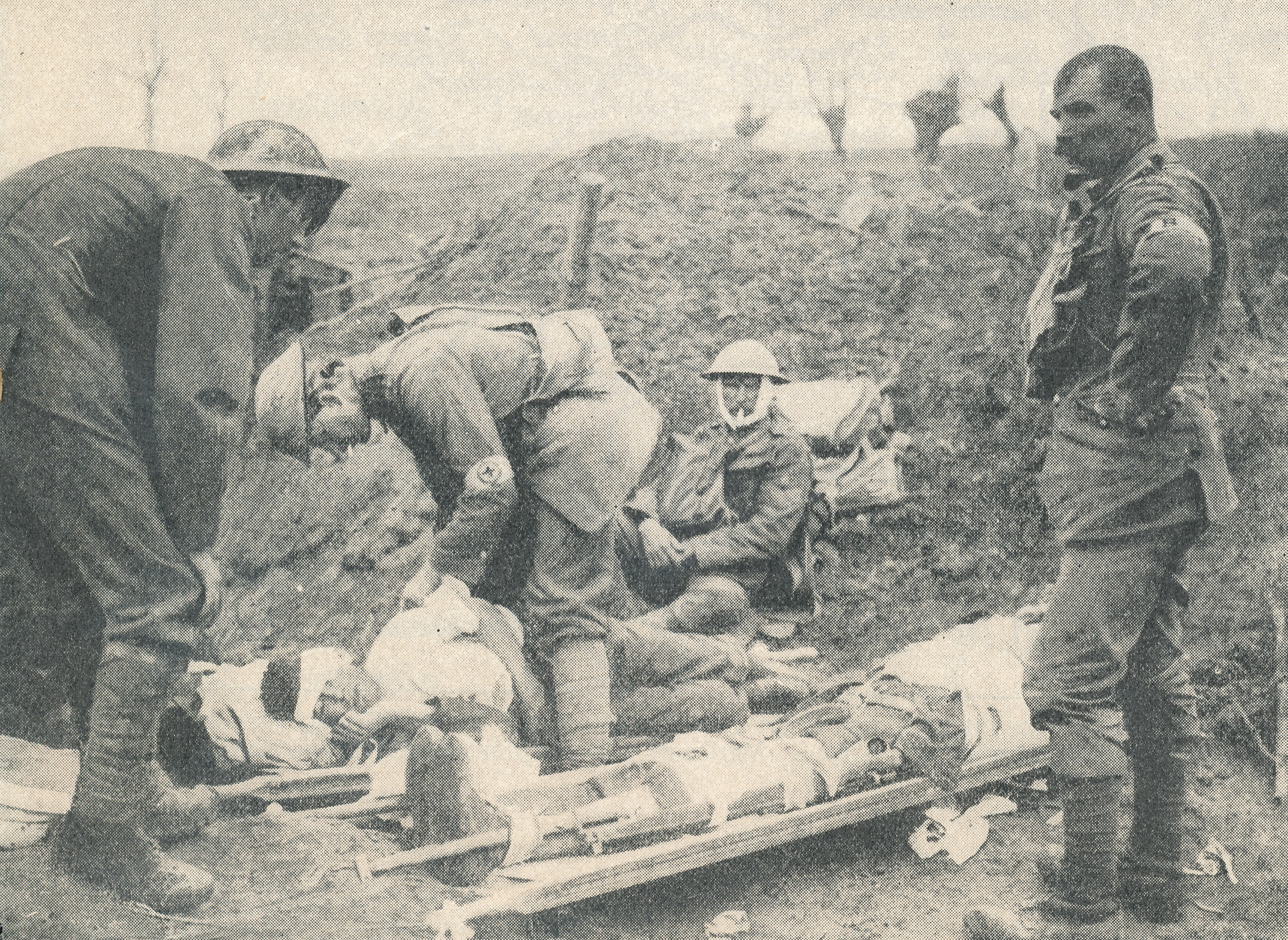 Wounded WWI soldier. From Forces War Records photo library.