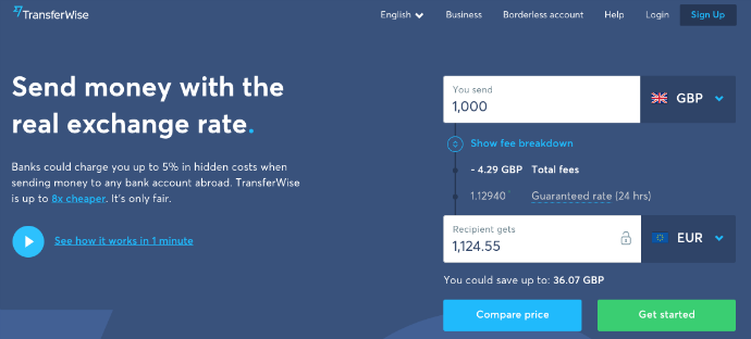 Transferwise Mobile App review