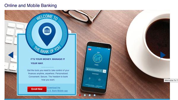 us bancorp online banking screenshot