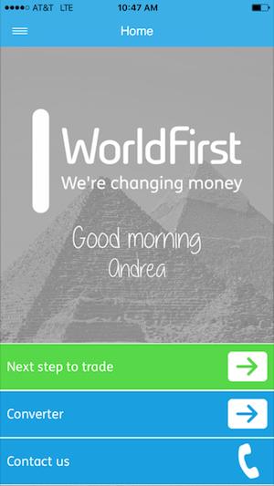 world first login screenshot