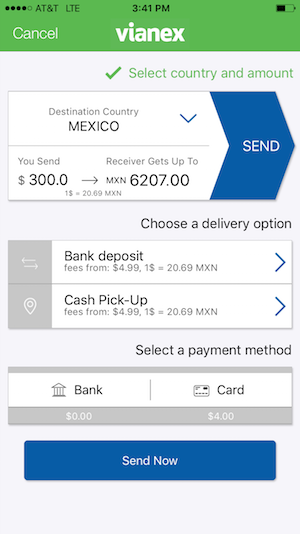 vianex mobile money transfer app