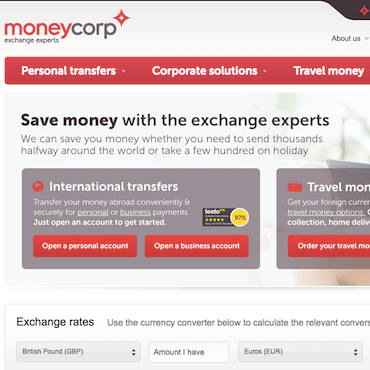 moneycorp screenshot