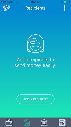 transfast screenshots add recipients