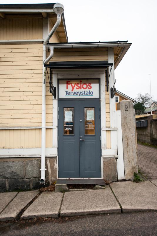 Fysios Tammisaari ulko-ovi