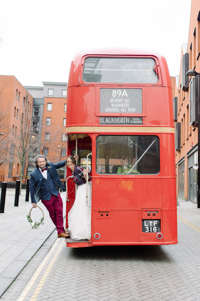 Double decker bus - kelham island wedding