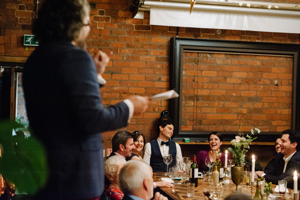retro alternative wedding the chimney house sheffield