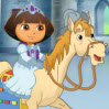 Dora Royal Rescue Games : The evil wizard, Malabruno, has locked away Don Quixote insi ...