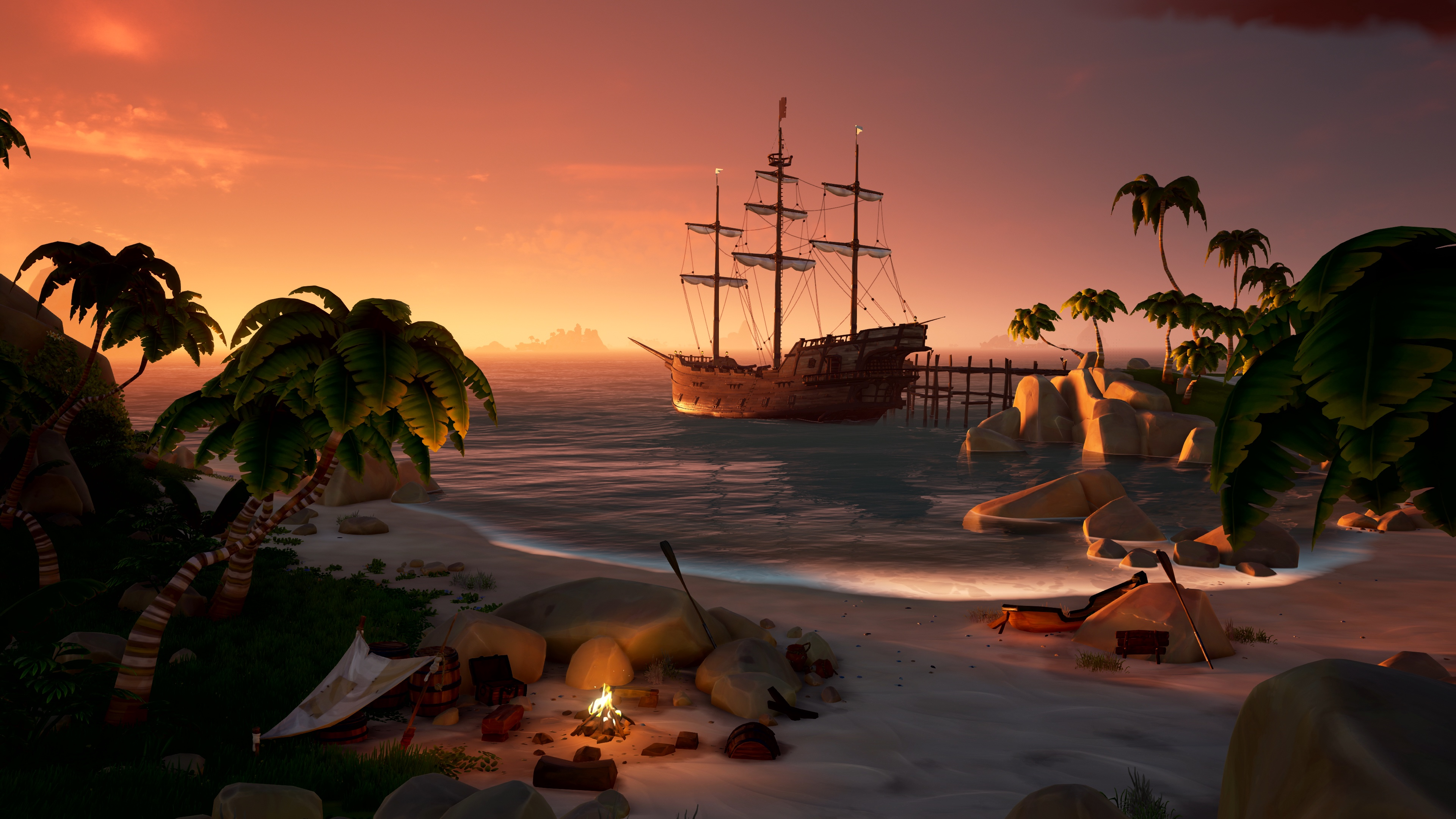 Sea of thieves island scene 4k.0