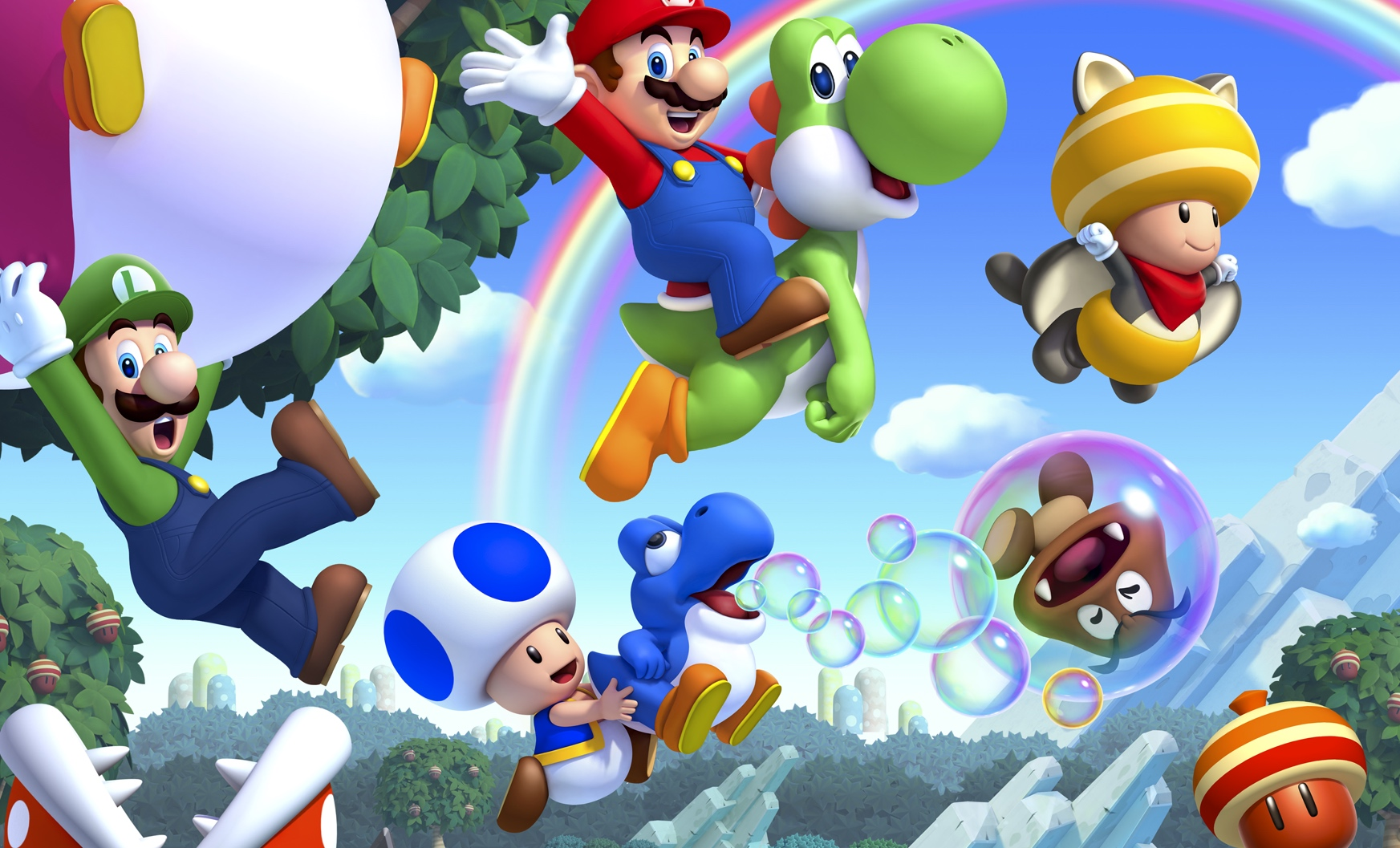 Yes, Blue Toad is playable in New Super Mario Bros. U Deluxe, with a catch Cover