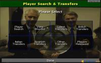 Transfer market menu selection